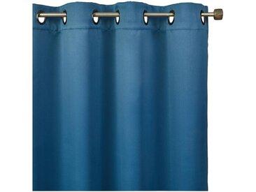 Rideau occultant à oeillets bleu figuerolles 140x250cm Alinéa