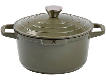 Cocotte en fonte d'aluminium vert cèdre D24cm - alinea