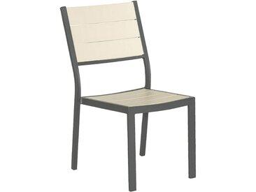 Chaise de jardin empilable grise en bois composite Alinéa