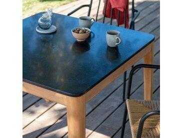 Table carrée en granit reconstitué - noir L90xl90 - alinea