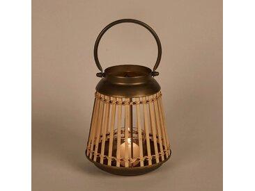 Lanterne en bambou et métal H23cm - alinea
