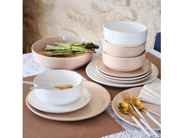Lot de 6 assiettes plate en faïence blanc ventoux d27cm (prix unitaire : 5.0 euros) - alinea