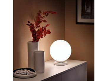 Lampe en verre opaque et métal D25xH28cm - alinea