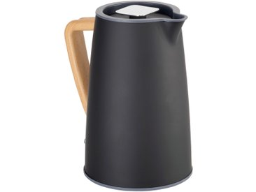 Bouilloire électrique noire avec poignée en bois - alinea