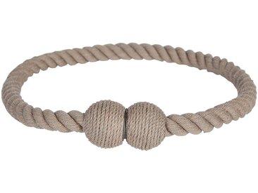 Embrasse magnétique corde en coton gris moyen - alinea