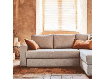 Canapé d'angle réversible convertible en tissu gris borie - alinea