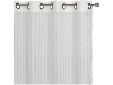 Voilage à œillets en coton blanc 140x250cm - alinea