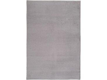 Tapis imitation fourrure gris restanque 100x150cm - alinea