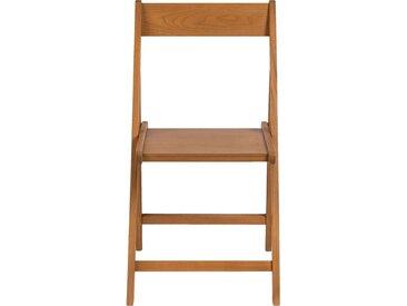 Lot de 2 chaise pliante en bois plaqué naturel (prix unitaire : 35.0 euros) - alinea