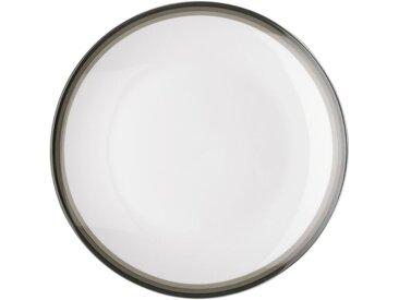 Lot de 6 assiette à dessert en porcelaine motif dégradé vert cèdre d19cm (prix unitaire : 2.5 euros) - alinea
