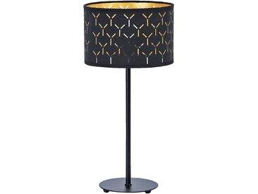 Lampe à poser en métal et coton noir ajouré H43cm Alinéa