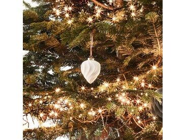 Boule de Noël en céramique blanche D7,5cm - alinea