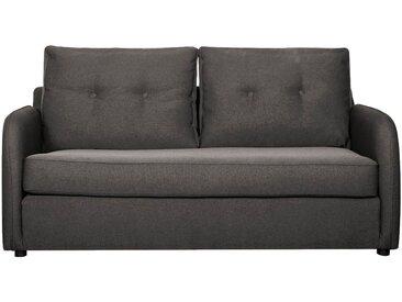 Canapé 3 places convertible déplimousse en tissu gris borie - alinea