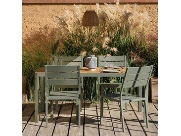 Table de jardin en aluminium vert cèdre (4 à 6 places) Alinéa