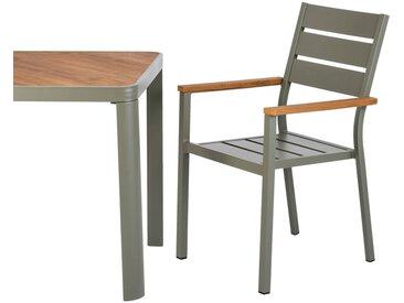 Table de jardin en aluminium - vert cèdre - (4 à 6 places) - alinea