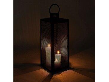 Lanterne en métal - noir - H53cm - alinea