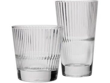 Lot de 6 verre effet strié transparent 30cl (prix unitaire : 5.0 euros) - alinea
