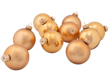 10 boules de Noël en verre doré D6cm - alinea