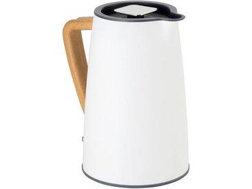 Bouilloire électrique blanc ventoux avec poignée en bois - alinea