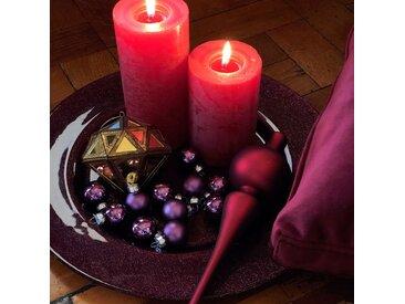 24 mini boules de Noël en verre violet D2,5cm - alinea