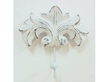 Porte serviette mural crochet baroque blanc