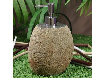 Distributeur de savon en galet de rivière