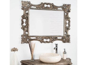 Miroir baroque en bois patiné bronze 100cm X 80cm