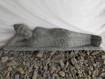 statue Bouddha couché en pierre naturelle 150cm