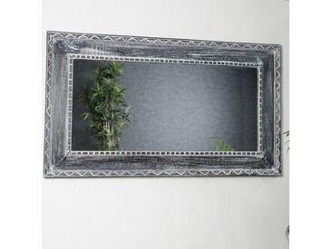 Miroir Palerme en bois patiné cérusé 140cm X 80cm
