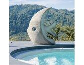 Grande sculpture design poisson 100 cm gris