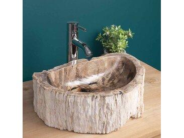 Vasque à poser en bois fossilisé 40 CM