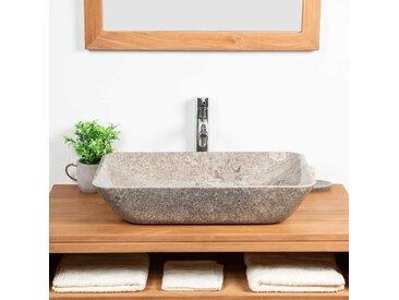 grande vasque en marbre à poser CARMEN 60CM GRIS