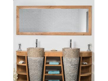 Grand Miroir rectangle en teck massif 180 x 70