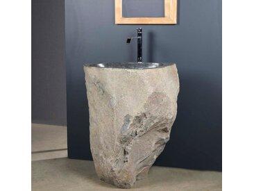 vasque de salle de bain sur pied en pierre de rivière