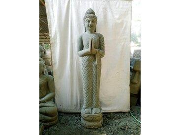 Statue de jardin bouddha debout prière de 2 m