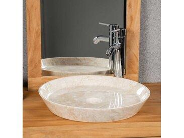 vasque en marbre à poser salle de bain MALO 45 CM CREME