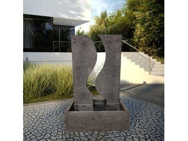 Fontaine de jardin mur d'eau déco contemporain 125 cm