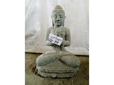 Statue de jardin Bouddha assis position Prière 50 cm