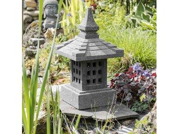 Lanterne japonaise en pierre de lave de 55cm