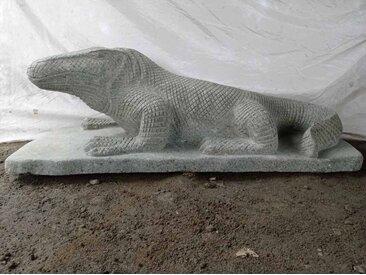 Statue en pierre Dragon de Komodo 100 cm