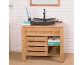 Meuble de salle de bain en teck Zen 85cm