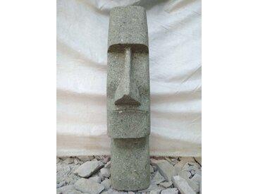 Tiki moaï d'océanie statue jardin en pierre volcanique 60cm