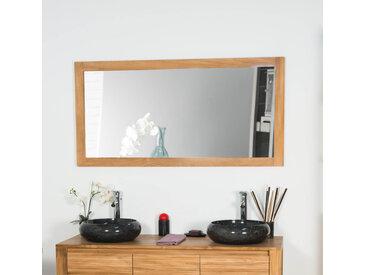 Miroir rectangle en teck massif 140x70