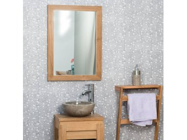 Miroir rectangle en teck massif 70x50