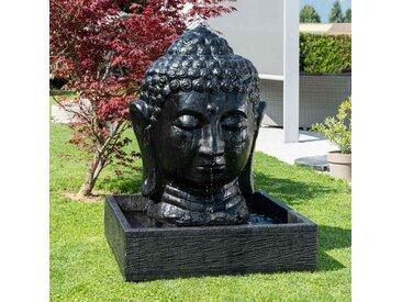 Fontaine de jardin tête de Bouddha 1 m 30 noir