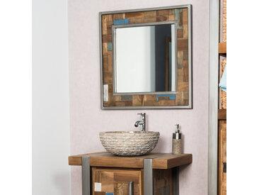 Miroir de salle de bain Factory teck métal 70x70