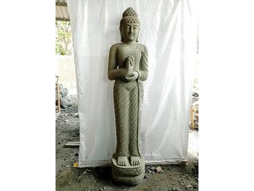 Statue en pierre bouddha debout position chakra 2m