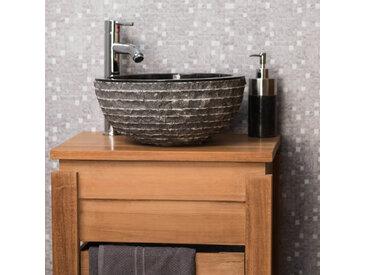 Vasque à poser en pierre marbre VESUVE noir 35cm