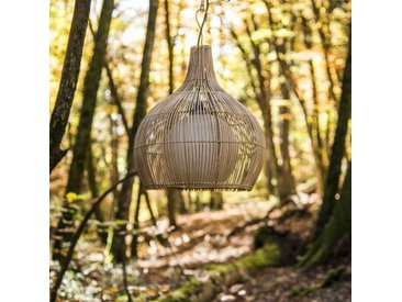 Lampe suspension en osier 41 cm