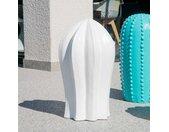 Sculpture jardin cactus blanc 70cm